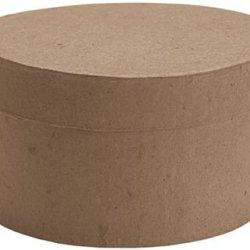 Dcc Paper Mache Small Round Box, 4-Inch X 4-Inch X 2.125-Inch