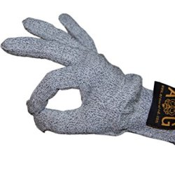 1 Pair Of Cut Resistant Gloves With Ce Level 5 Protection - Safety For Home And Work - Kitchen Knives, Butcher, Glass Handling - Stronger Than Leather - Lifetime Guarantee (Full Size, Grey)