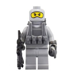 U.S. Navy Seal (Grey Balaclava) - Minibigs Custom Minifigure