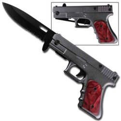 Fully Loaded Spring Assisted Pistol Knife - Femme Fatale
