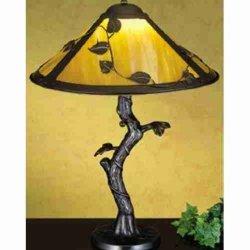 """Meyda Lighting 26296 23""""H Mission Vine Leaf Apple Tree Table Lamp"""