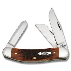 Case Cutlery 07015 Sowbelly With Case Chrome Vanadium Steel Blades, Chestnut Bone