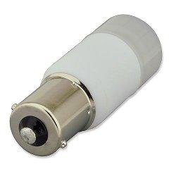 Ledwholesalers 2 Watt Bayonet Single Contact Base New Body 12 Volt Ac/Dc Or 10-30V Dc, Package Of 2 Warm White,14302Ww