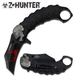 Z Hunter Zb-058Bk Spring Assisted Knife, 5.25-Inch