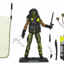 """Hasbro Year 2010 G.I. Joe Mission """"The Pursuit Of Cobra Jungle Assault"""" Series 4 Inch Tall Action Figure - Cobra Jungle Tracker Shadow Tracker With Removable Vest, Quiver With Arrows, Compound Bow, Arrow, Spear, Bolo, Machete, Dagger, Mambele, Kukri, Knif"""
