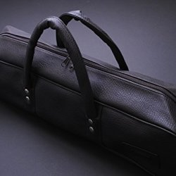 Yoshihiro Synthetic Leather Knife Bag Available In Size Large (Dark Brown Color) Japanese Sushi Chef Tool