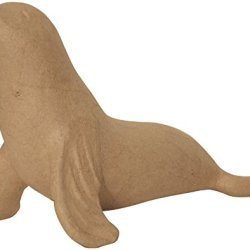 """Paper Mache Figurine 4.5""""-Seal *** Product Description: Paper Mache Figurine 4.5""""-Sealdecopatch-Paper Mache Figurine. This Figure Is Fun For Decoration And Play. It Can Be Painted And Decorated How You Want To. This Package Contains One 4-1/2 Inc ***"""