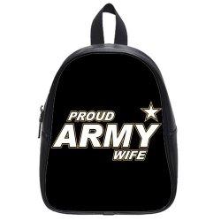 Jdsitem Simple Proud Army Wife Star Design Size L Backpack School Bag Satchel