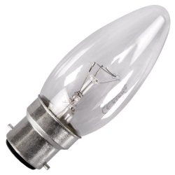 Eveready 2 X 40W Bc (Bayonet Cap) Clear Candle Bulbs - Pack Of 2 - [Eu Specification: 220-240V]