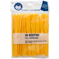 Handy Helpers Bulk Buys Plastic Knives, 50-Pack