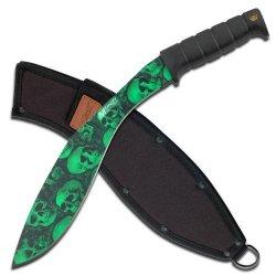 Walking Dead Zombie War Survival Combat Weapon Skull Kukri Machete Sword Knife