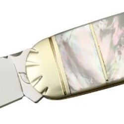 Frost Ocoee River Sunfish Folding Knife,Spear Blade, Mother Of Pearl Handle Oc510Mop