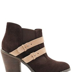 Kelsi Dagger Jalynn Womens Size 8.5 Brown Suede Booties Shoes