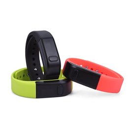 OUMAX-FIT-T1S-Activity-and-Fitness-TrackerPack-Includes-3-Colored-Bands-in-BlackGreenRed