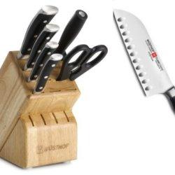 "Wusthof Classic Ikon 7 Piece Knives Block Set 8347 + Bonus Wusthof 4172 Classic Ikon 5"" Santoku Knife"