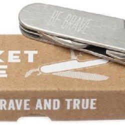 Be Brave And True Pocket Knife
