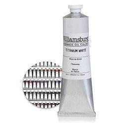 Titanium White 150Ml Tube Williamsburg Handmade Oil Paint - Professional Artist Grade Studio Basic Must-Have