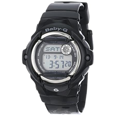 With a vivid, glossy finish and cool urban styling, the Casio Women's Baby-G Black Whale Watch features performance functions and durable components that meet the lifestyle needs of the modern woman. Stylish rod accents stand out from the watch face,...