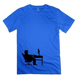 Mans Pc Freak Tshirt - Vintage Custom Royalblue T Shirts