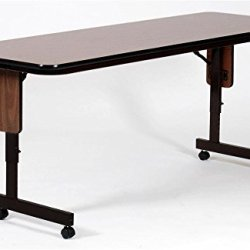 "Rectangular Folding Table Finish: Dove Gray, Size: 60"" W X 24"" D"