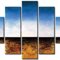 Sangu 5-Piece Blue Sky Offset Horizon For Landscape Oil Painting Gift Canvas Wall Art