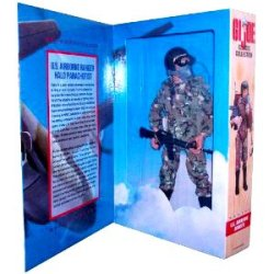 Gi Joe Year 1996 Limited Edition Classic Collection 12 Inch Tall Soldier Action Figure - U.S. Airborne Ranger Halo Parachutist With Camouflage Fatigues, Assault Helmet, Goggles, Oxygen Mask, Oxygen Hose, Oxygen Bottle With Pouch, Boots, Survival Knife, Pa