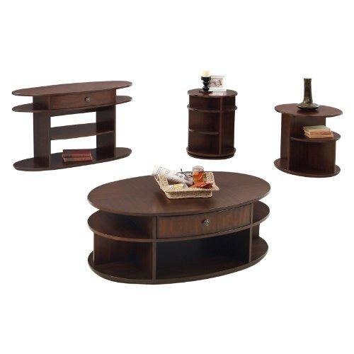Image of Progressive Furniture Sofa/Console Table - Dark Cherry and Birch (P474-05)