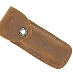 Buck 110 Brown Distressed Leather Sheath Folding Hunter Knife ~ Soft & Pliable Fits 317