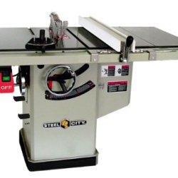 Steel City Tool Works 35965Gr 10-Inch 3-Hp 30-Inch Industrial Fence System Left Tilt Riving Knife Granite Cabinet Saw