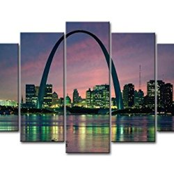 5 Piece Wall Art Painting Saint Louis Arch Building Pictures Prints On Canvas City The Picture Decor Oil For Home Modern Decoration Print For Kids Room