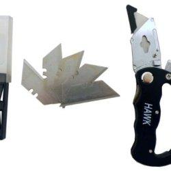 Folding Utility Knife On Carabiner