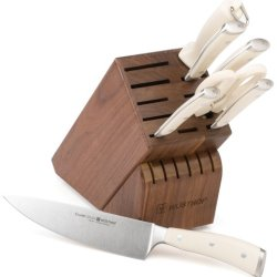 Wusthof Classic Ikon 8-Piece Knife Set With Block, Creme