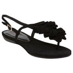 Kelsi Dagger Jasline Womens Size 8.5 Black Open Toe Suede Dress Sandals Shoes