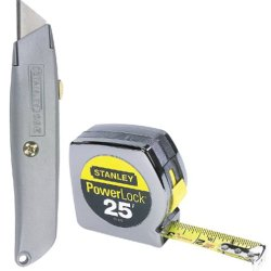 Stanley 90-082 25-Foot Powerlock Tape Rule With 6-Inch Classic 99 Retractable Knife Set