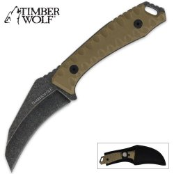 Timber Wolf Full Tang Atomic Steel Hawk Bill With Sheath