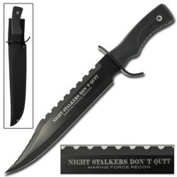 Night Stalkers Don'T Quit Sawback Bowie Knife