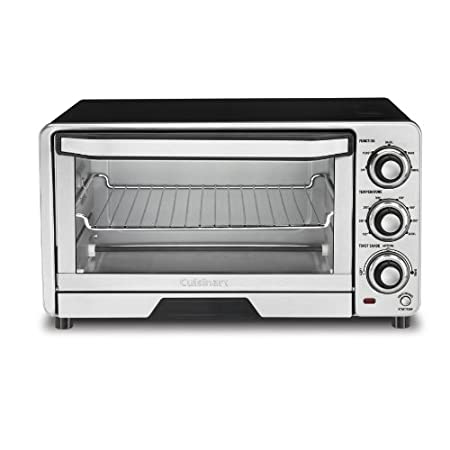 Cuisinart's custom toaster oven broiler is large enough and smart enough to present a full range of menu options. Toast 4 bagel halves, bake a 11 inch pizza, or broil two big open-faced sandwiches. This oven uses sophisticated internal temperature co...