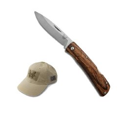 Benchmade 15051-2 Hunt Series Big Summit Lake Folding Knife With Free Velcro Khaki Hat