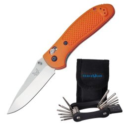 Benchmade 551-Org Griptilian Orange Folding Knife + Bluebox Service Kit