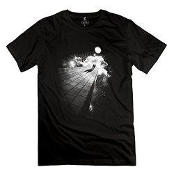 Men Place No One Can Hear Us T-Shirt - Nice Custom Black T-Shirt