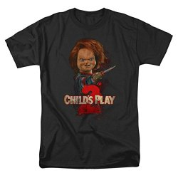 Childs Play 2 Horror Comedy Thriller Movie Heres Chucky Adult T-Shirt Tee