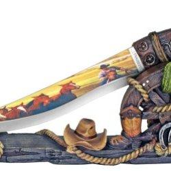 "12-3/4"" Southwestern Dagger Knife Display"