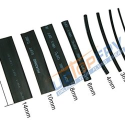 Summitlink® 218 Pcs Black Assorted Heat Shrink Tube 8 Sizes Tubing Wrap Sleeve Set Combo