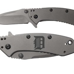 Detroit D Engraved Kershaw Cryo 1555Ti Folding Speedsafe Pocket Knife By Ndz Performance