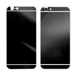 Tonsee Electroplating Mirror Effect Back Tempered Glass Screen Protector For Iphone 6 Plus (Black)
