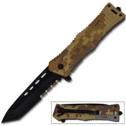 Cld166 Military Special 52Khhw Operation Trigger Assist Knife Kl5S5Esimn - Digital Desert Folding Knife Edge Sharp Steel Ytkbio Tikos567 Bgf 8 Inch Overall Length. 3.25 Inch Blade Length. German Surgical Steel Yfawgm53Ro Blade. Tanto Blade G9Q3Dkybb2 With