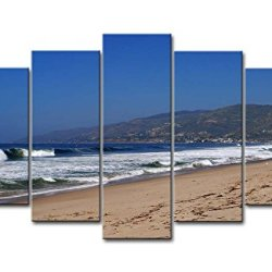 Blue 5 Piece Wall Art Painting Zuma Beach White Large Wave Prints On Canvas The Picture Seascape Pictures Oil For Home Modern Decoration Print Decor For Bedroom