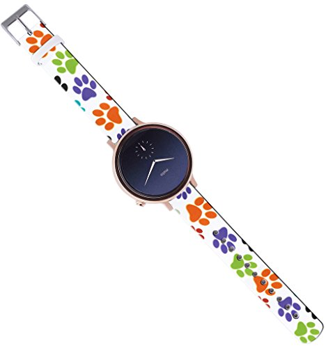 Moto-360-2nd-Gen-Strap-Women16Mm-Watch-Strap-Band-Leather-Moto-360-2nd-Gen-42Mm-Women-Version-Replacement-with-Quick-Release-Pins-Colorful-Creative-Cute-Personalized-Pattern-Design