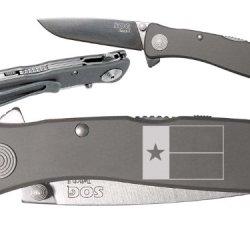 Tx Texas Flag V2 Custom Engraved Sog Twitch Ii Twi-8 Assisted Folding Pocket Knife By Ndz Performance