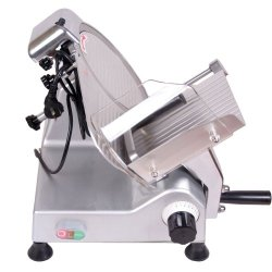 """Sanven Food And Meat Slicer 10"""" Blade Easy To Clean And Maintenance Fashion Tilted Design For Fast And Laborsaving Slicing"""